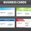 Business cards. Vector template. — Stock Vector