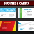 Business cards. Vector template. — Stock Vector #2625775