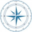 Compass. Vector illustration. — Stock Vector #2625791