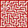 Stock Vector: Red maze