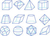 Geometrie cijfers — Stockvector