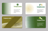 Business card template collection — Stock Vector