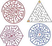 лабиринты коллекции — Cтоковый вектор