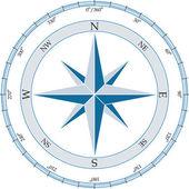 Compass. Vector illustration. — Stock Vector