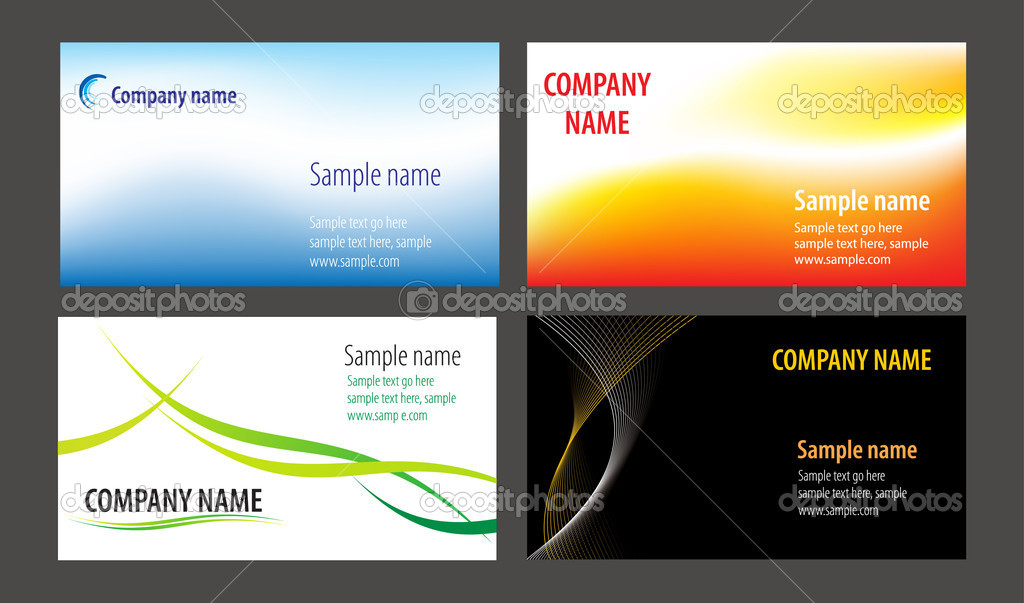 Business cards templates collection — Stock Vector #2625622