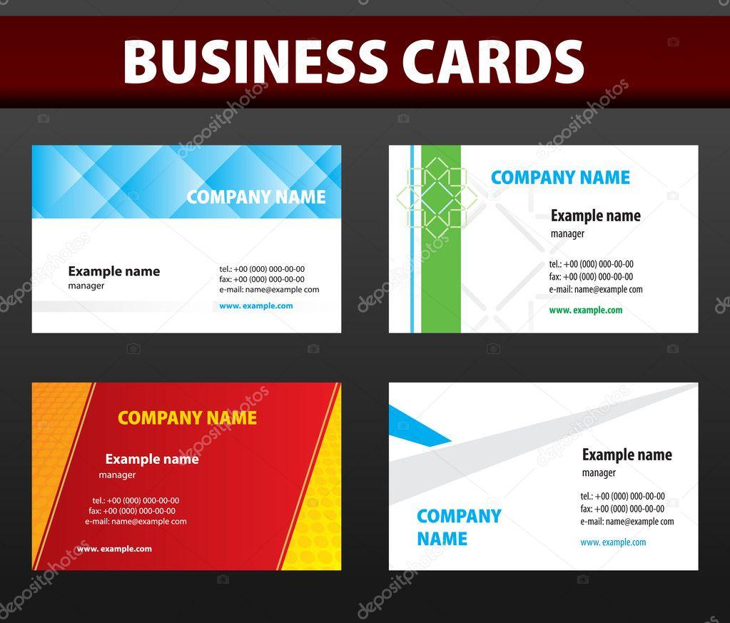 Business cards Vector template — Stock Vector © vtorous