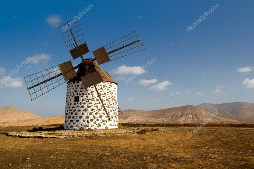 Old Windmill in Fuerteventura  Stock Photo #1742333
