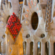 Details in Gaudi's Sagrada Familia — Stock Photo