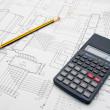 Engineer architect Design table — Stock Photo