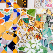 Mosaic in Parc Guell, Barcelona — Stock Photo