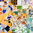 Mosaic in Parc Guell, Barcelona — Stock Photo #1808377