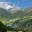 Stock Photo: Vall de Nuria Sanctuary in the pyrenees
