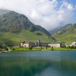 Vall de Nuria Sanctuary in the pyrenes — Stock Photo