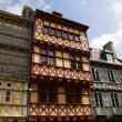 Stock Photo: Quimper, timbered houses in Brittany