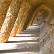 Parc Guell columns in Barcelona — Stock Photo