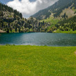 Vall de Nuria Sanctuary in the pyrenees — Stock Photo