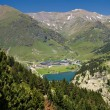 Vall de Nuria Sanctuary in the pyrenees - Stock Photo