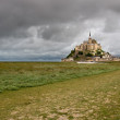 Stock Photo: The mount Saint-Michel Abbey