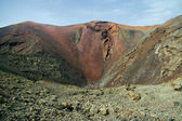 Volcano crater in Timanfaya — Stock Photo