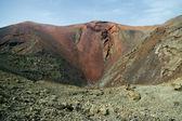 Volcano crater in Timanfaya — Stock Photo
