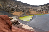 Volcanic crater as a beach — Stock Photo