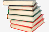 Stack of books isolated in white — Stock Photo