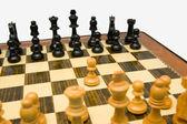 Kings pawn opening — Stock Photo