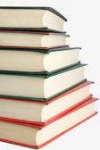 Beyaz izole kitap yığını — Stok fotoğraf
