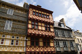 Quimper, timbered houses in Brittany — Stock Photo
