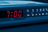 Alarm radio clock. Time to wake up — Zdjęcie stockowe