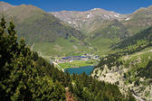 Vall de Nuria Sanctuary in the pyrenees — Stock Photo