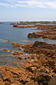 Coastline in Brittany, northen france — Stockfoto