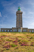 Lighthouse in Cap Frehel, Brittany — Stock Photo