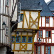Stock Photo: Vannes, timbered houses in Brittany