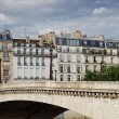 Paris Bridge Over river Seine — Stock Photo #1823773