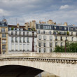 Paris Bridge Over river Seine — Stock Photo