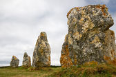 Menhir alignment in Brittany — Stock Photo