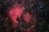 Stars field and nebulae in the milky way — Stock Photo