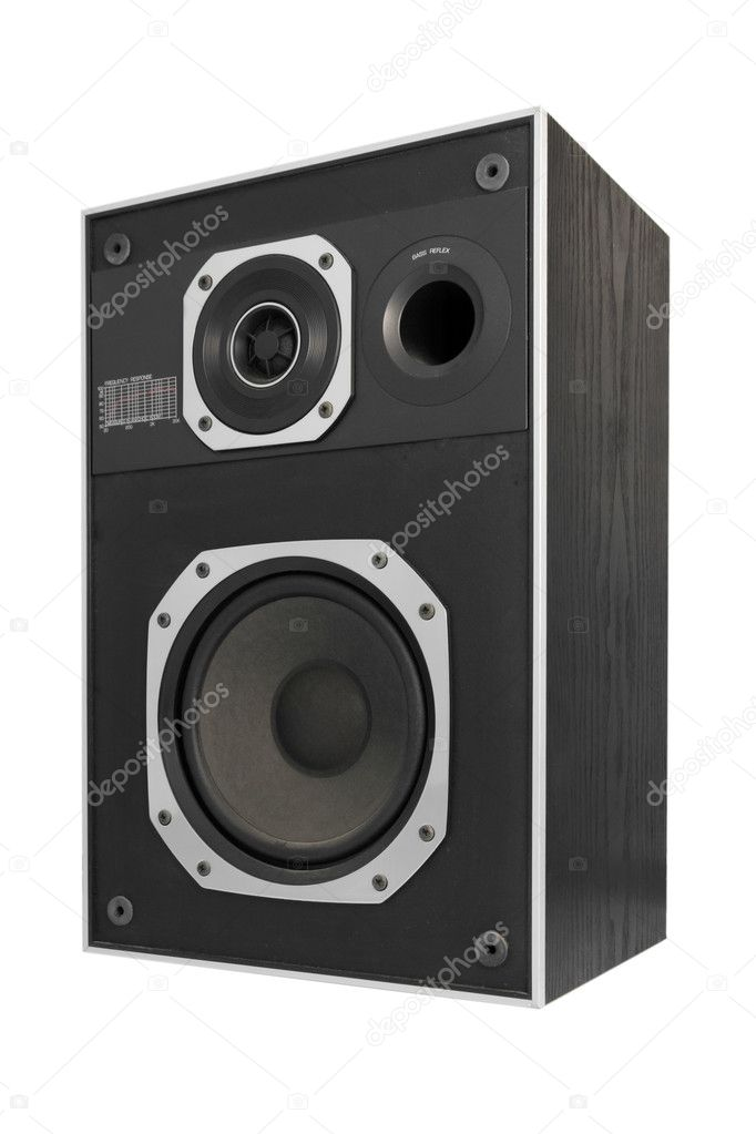 Two way hifi audio speaker, isolated — Stock Photo #1821137