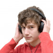 Teenager listening music with headphones — Stock Photo #2295938
