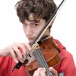 Teenager playing violin — Stockfoto