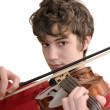 Teenager playing violin — Foto Stock