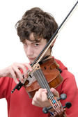 Teenager playing violin — Stock Photo