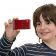 Stock Photo: Happy kid taking a photo
