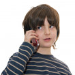 Boy talking on a mobile phone — Stock Photo #2490255