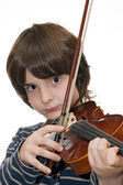 Boy playing violin — Stock Photo