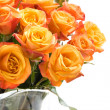 Royalty-Free Stock Photo: Orange roses in glass vase