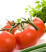 Close up on fresh tomatoes. — Stock Photo