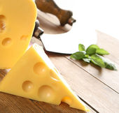 Yellow cheese — Stock Photo