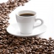Stock Photo: Coffee cup and grain